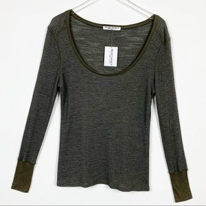 Project Social T Waffle Knit Long Sleeve Top Large